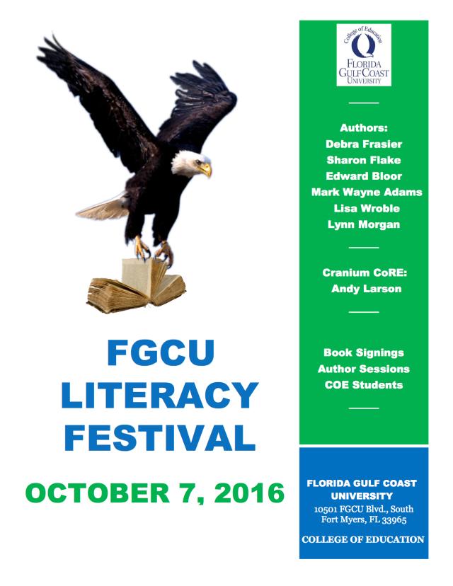 FGCU Literacy Festival Flyer