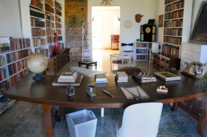 At Hemingway's home in Havana, Cuba. His office just as he left it.